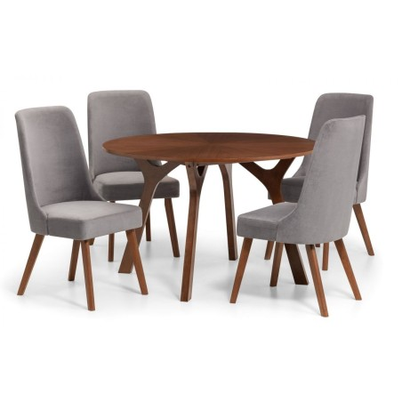 SET OF HUXLEY TABLE & 4 CHAIRS