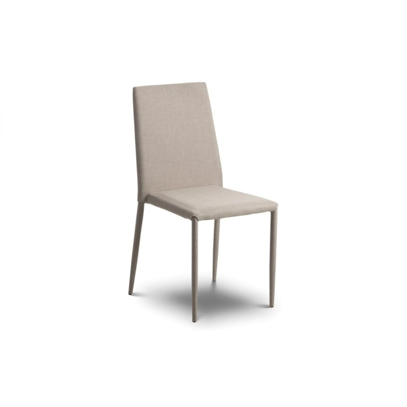 SET OF 4 JAZZ FABRIC CHAIRS SAND LINEN