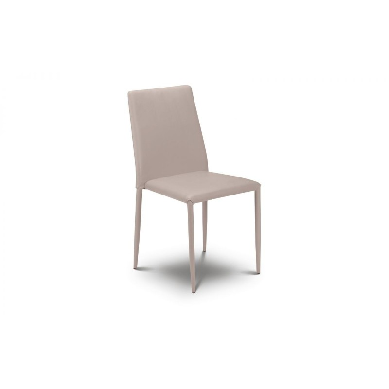 SET OF 4 JAZZ STACKING CHAIR STONE
