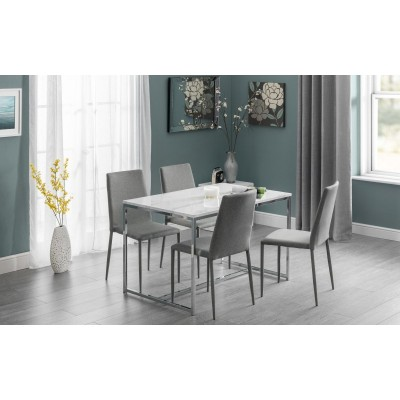 SET OF SCALA DINING TABLE & 4 JAZZ GREY CHAIRS