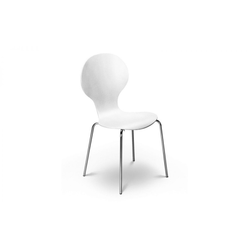 SET OF 4 KEELER CHAIRS WHITE KD