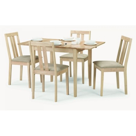 SET OF RUFFORD TABLE & 4 CHAIRS