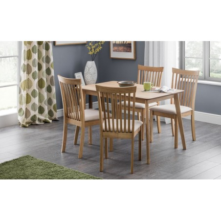 SET OF BODEN TABLE & 4 IBSEN CHAIRS