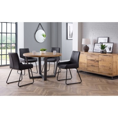 SET OF BROOKLYN ROUND TABLE & 4 SOHO CHAIRS