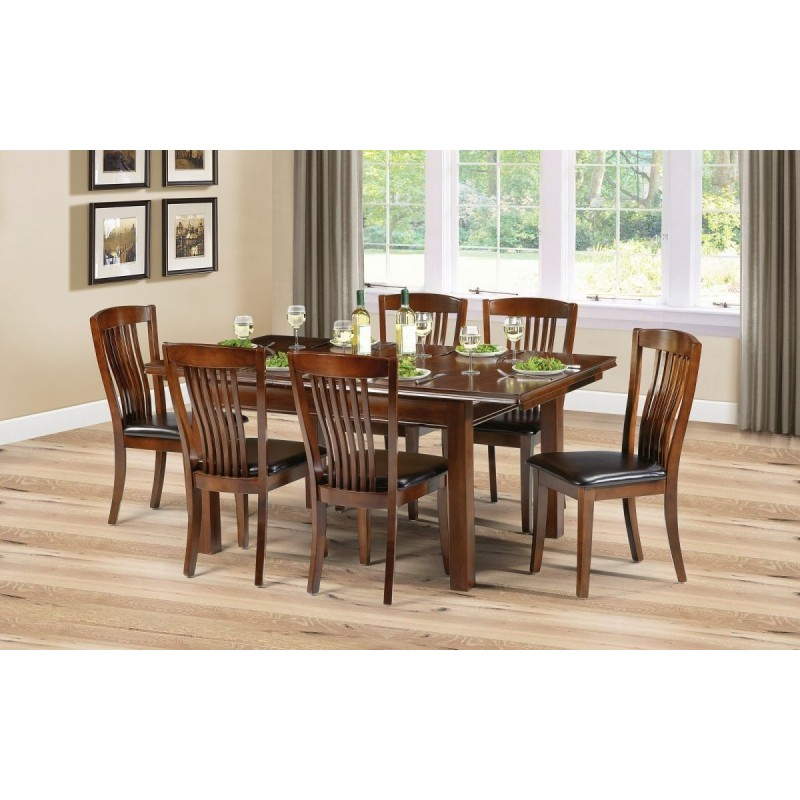 SET OF CANTERBURY TABLE & 6 CANTERBURY CHAIRS