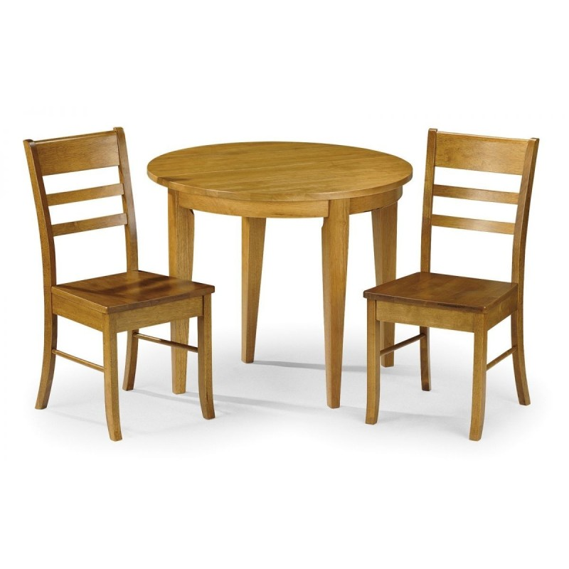 SET OF CONSORT TABLE & 2 CHAIRS