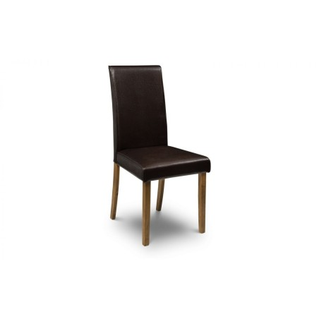 SET OF 4 HUDSON BROWN CHAIRS KD