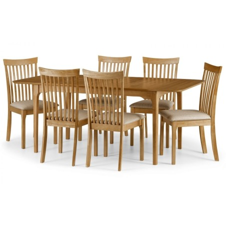 SET OF IBSEN DINING TABLE & 6 IBSEN CHAIRS