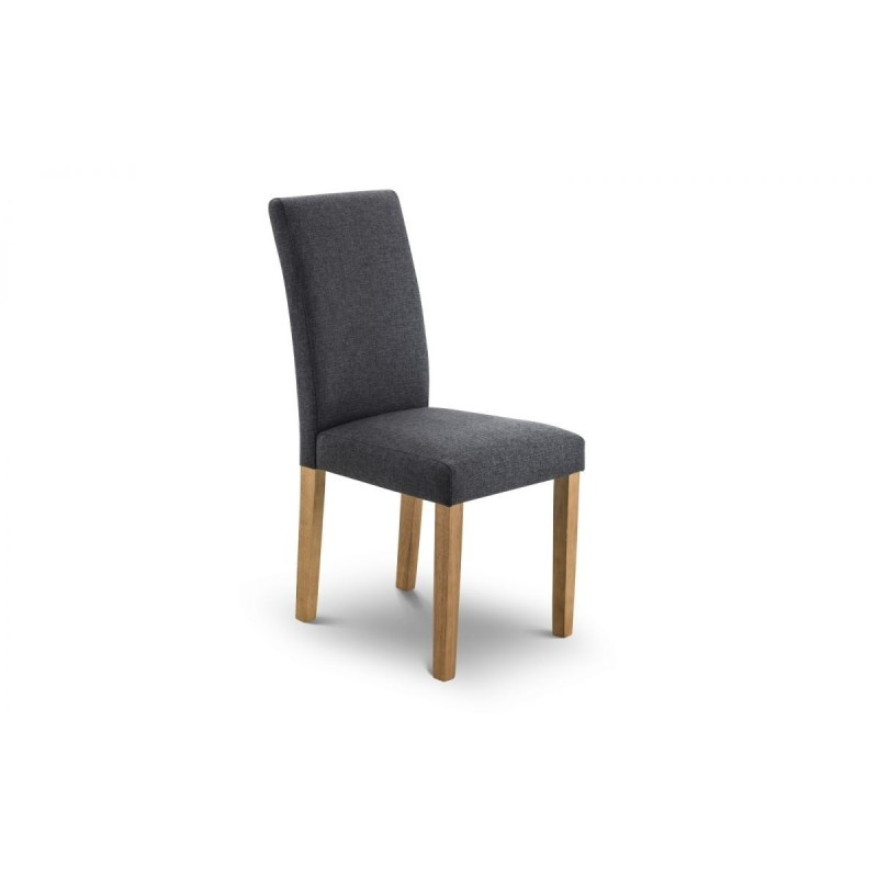SET OF 4 HASTINGS FABRIC DINING CHAIRS KD