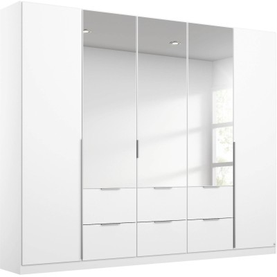 RAUCH MEMPHIS 5 DOOR COMBI MIRRORED WARDROBE