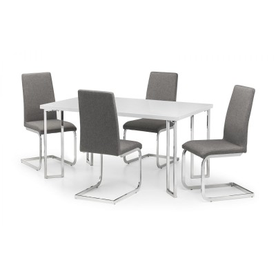 SET OF MANHATTAN DINING TABLE & 4 ROMA CHAIRS