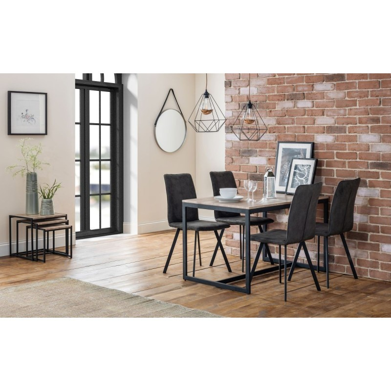SET OF TRIBECA TABLE & 4 MONROE CHAIRS