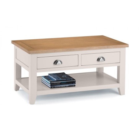 RICHMOND COFFEE TABLE WITH 2 DRAWERS GREY/PALE OAK
