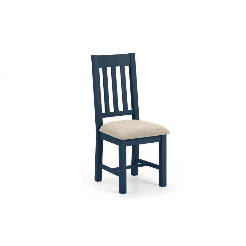 SET OF 4 RICHMOND BLUE DINING CHAIRS