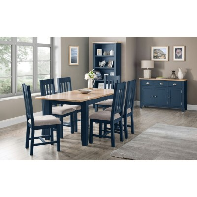 SET OF RICHMOND EXTENDING TABLE BLUE & 6 CHAIRS