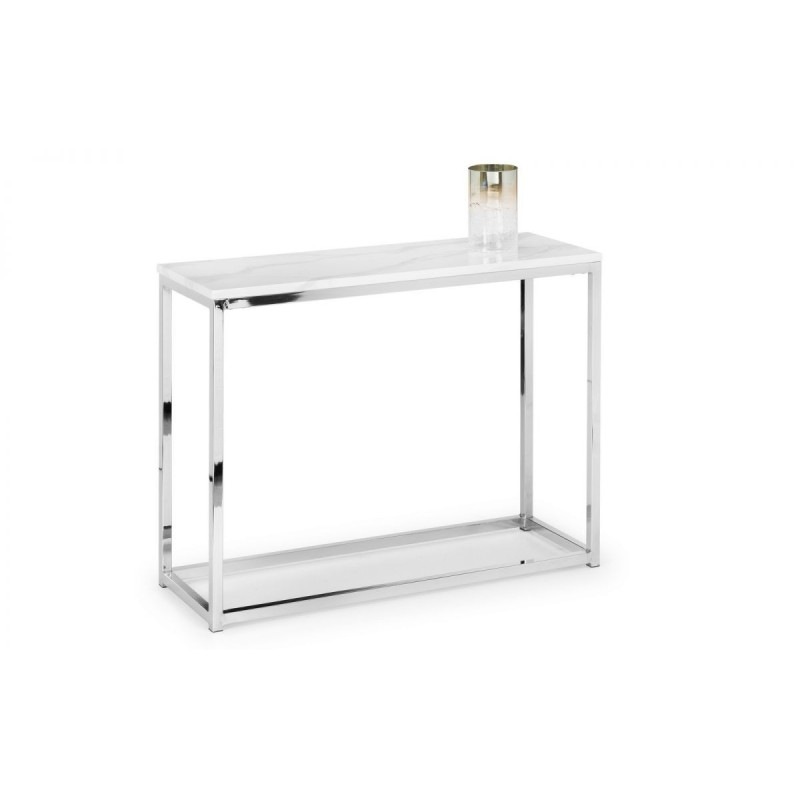 SCALA WHITE MARBLE CONSOLE TABLE