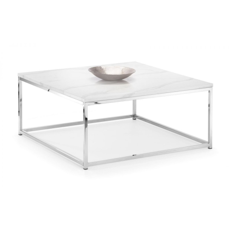 SCALA WHITE MARBLE TOP COFFEE TABLE