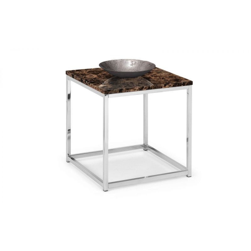 SCALA BRONZE MARBLE TOP LAMP TABLE