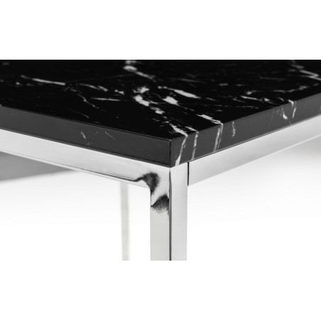 SCALA BLACK MARBLE TOP LAMP TABLE