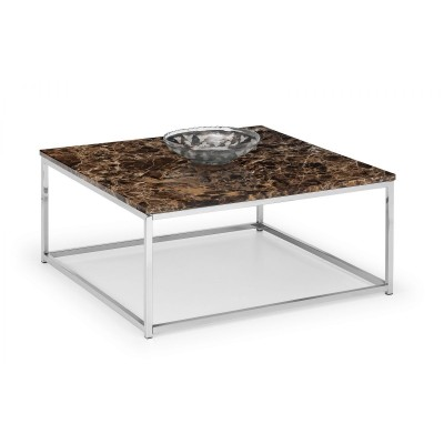 SCALA BRONZE MARBLE TOP COFFEE TABLE