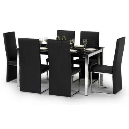 SET OF TEMPO TABLE & 6 TEMPO CHAIRS