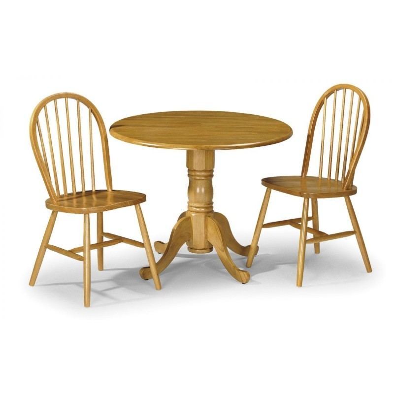 SET OF DUNDEE DINING TABLE & 2 WINDSOR CHAIRS