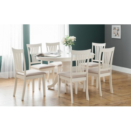 SET OF STAMFORD DINING TABLE & 6 STAMFORD CHAIRS