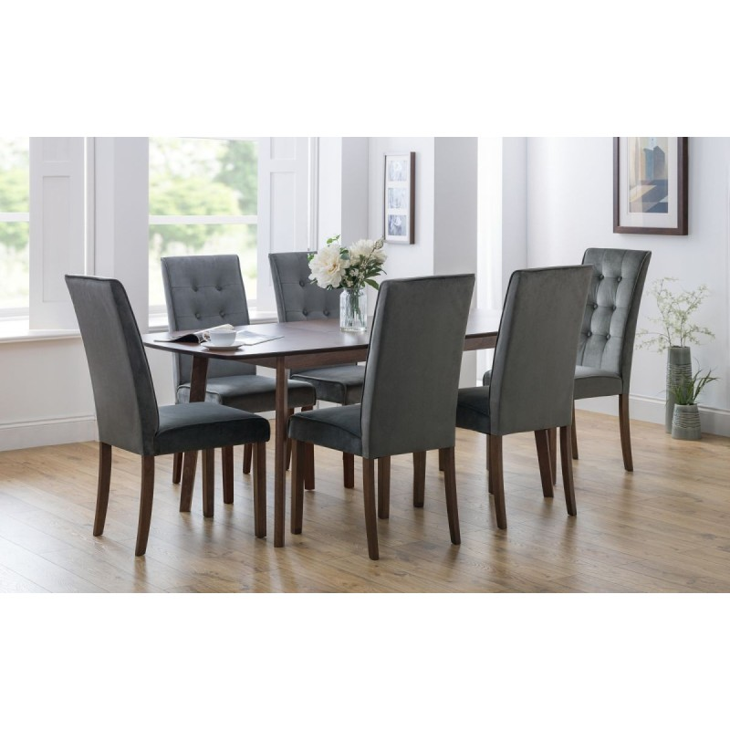 SET OF KENSINGTON DINING TABLE & 6 MADRID CHAIRS