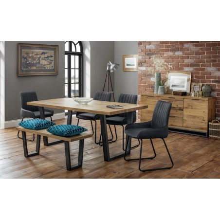 SET OF BROOKLYN TABLE, BENCH & 4 SOHO CHAIRS