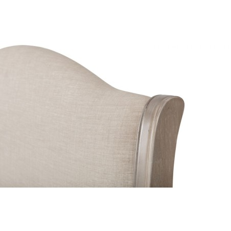 CAMILLE FABRIC AND WOOD BED 135CM