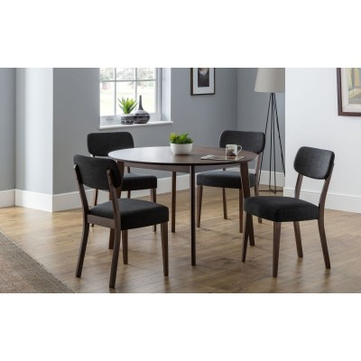 SET OF FARRINGDON CIRCULAR TABLE AND 4 CHAIRS