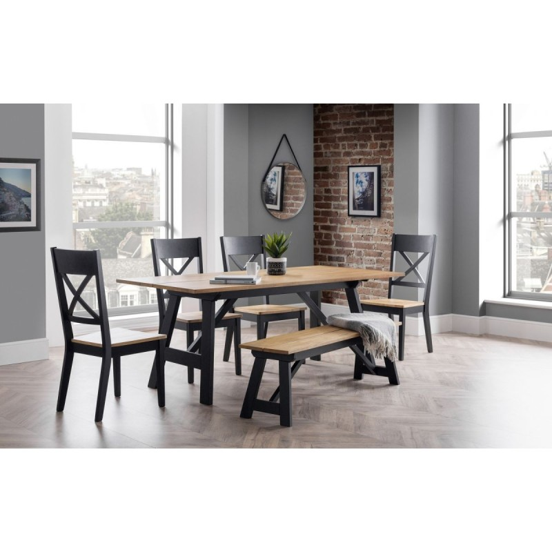 SET OF HOCKLEY TABLE, BENCH & 4 HOCKLEY CHAIRS