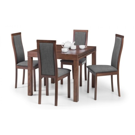 SET OF MELROSE EXTENDING DINING TABLE & 4 CHAIRS