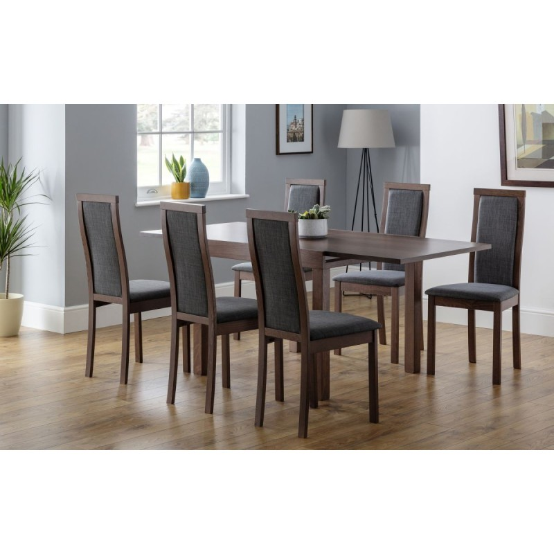 SET OF MELROSE EXTENDING DINING TABLE & 6 CHAIRS