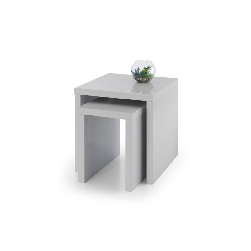 METRO HIGH GLOSS NEST OF TABLES GREY