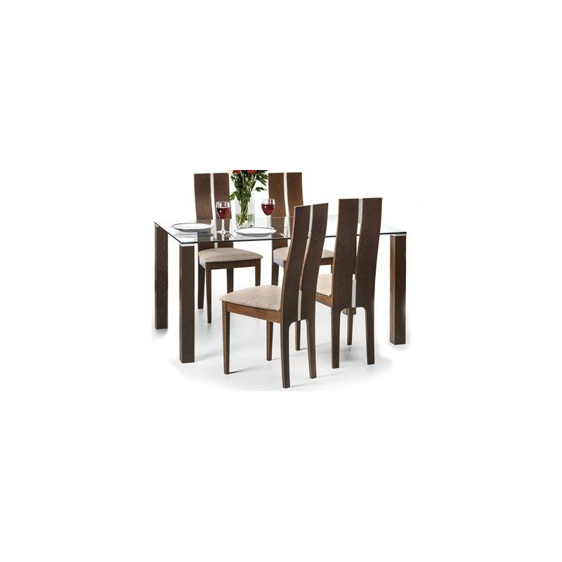 SET OF CAYMAN TABLE & 4 CAYMAN CHAIRS