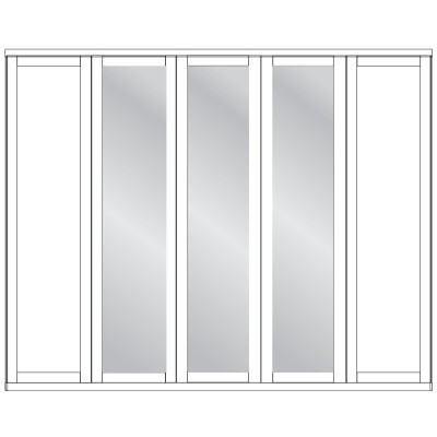 Wiemann Cambridge 5 Door 3 Mirrors Wardrobe