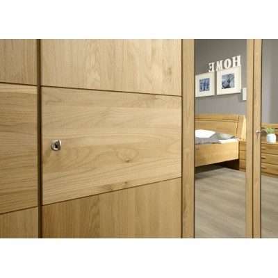 Amalfi Hinged Wardrobe Alder Wood Finish With Plain cross trim