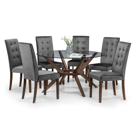 SET OF CHELSEA LARGE TABLE & 6 MADRID CHAIRS