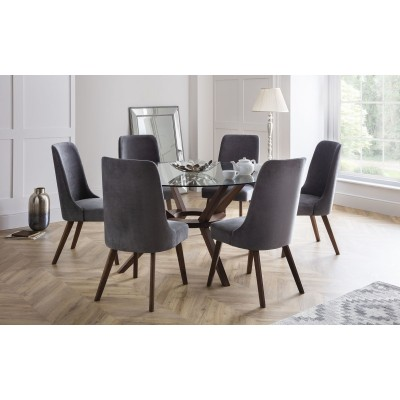 SET OF CHELSEA TABLE & 4 HUXLEY CHAIRS
