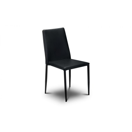 SET OF ENZO DINING TABLE AND 4 JAZZ BLACK CHAIRS