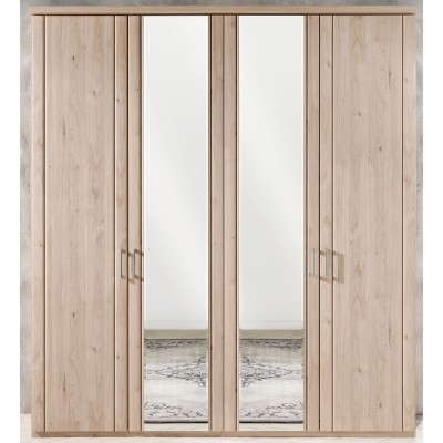Wiemann Valencia 4 Door Mirror Wardrobe in Holm Oak