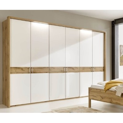 Wiemann Padua 4 Door Wardrobe In Timber Oak and White