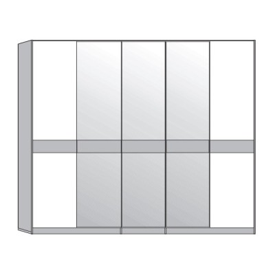 Wiemann Padua 6 Door 2 Mirrored Wardrobe