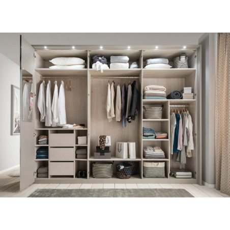 Wiemann All in Wardrobe With Coloured Glass Doors