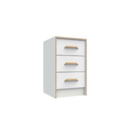 Marlow White 3 Drawer Bedside