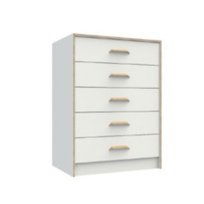 One call Furniture Marlow White 5 Drawer Chest