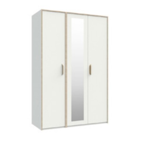 Marlow White 3 Door Robe With Mirror