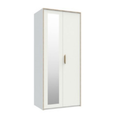 Marlow White 2 Door Robe With Mirror