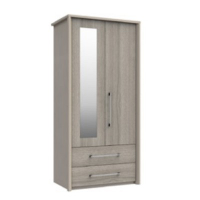 Burford 2 Door 2 Drawer Wardrobe With Mirror